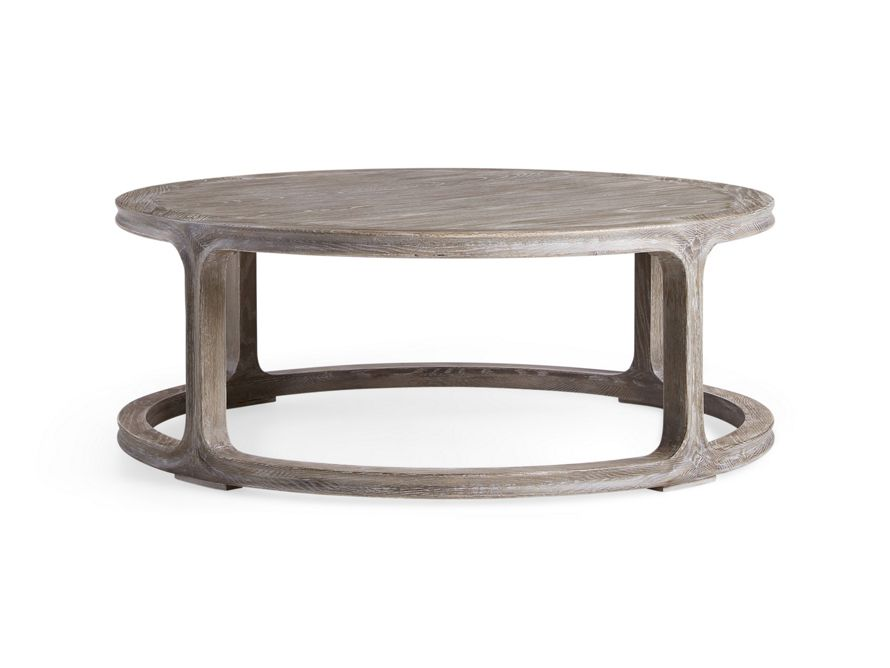 Bertogne 42 Round Coffee Table In Belgian Grey Round Coffee