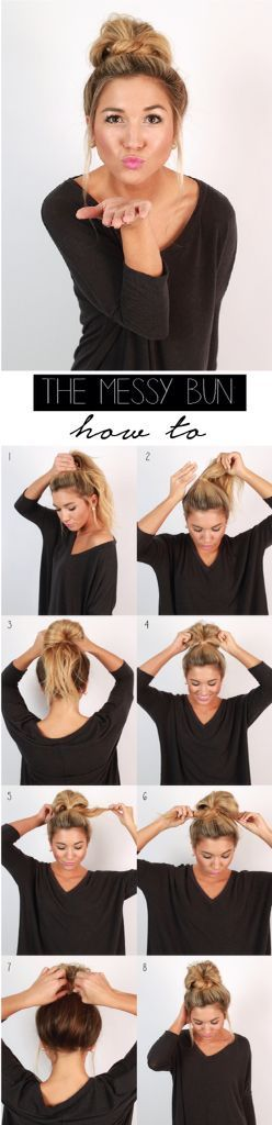 Messy Bun Tutorial | The Internship Beauty Rules You Need to Know | http://www.hercampus.com/beauty/internship-beauty-rules-you-need-know