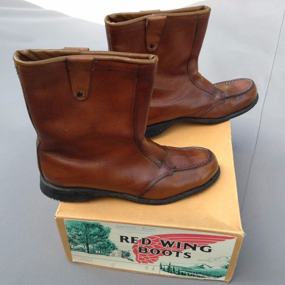 7dd846e0d6f Red Wing Womens 1960s Vintage Boots Pull On Winter Moc Toe Work ...