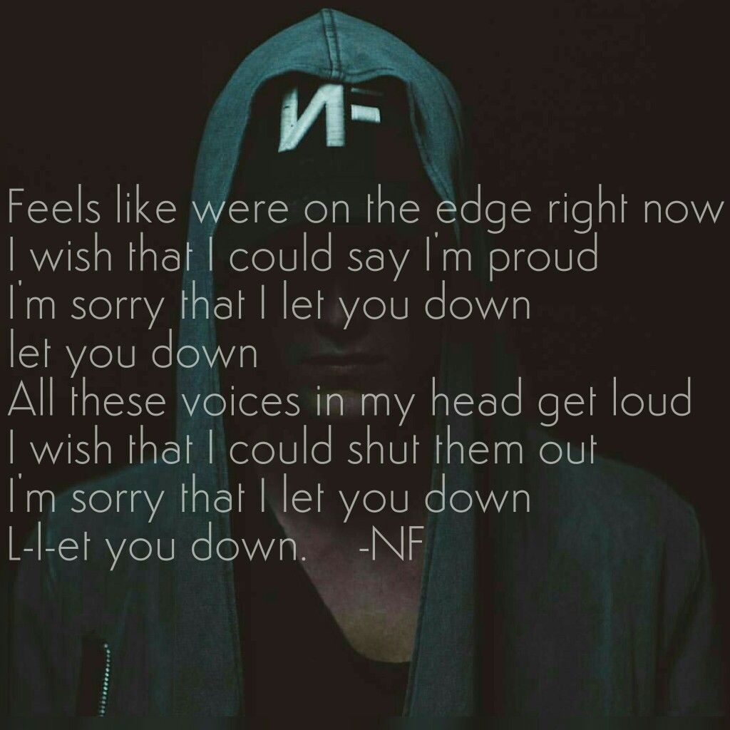 Let You Down -NF Song In His New Album Perception