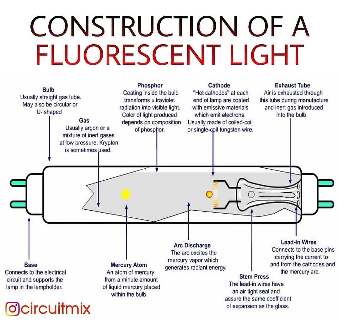 Internal Construction Of A Fluorescent Light Save And Share This Post Tag Your Friends Fluorescent Light Fluorescent Light Bulb Visible Light
