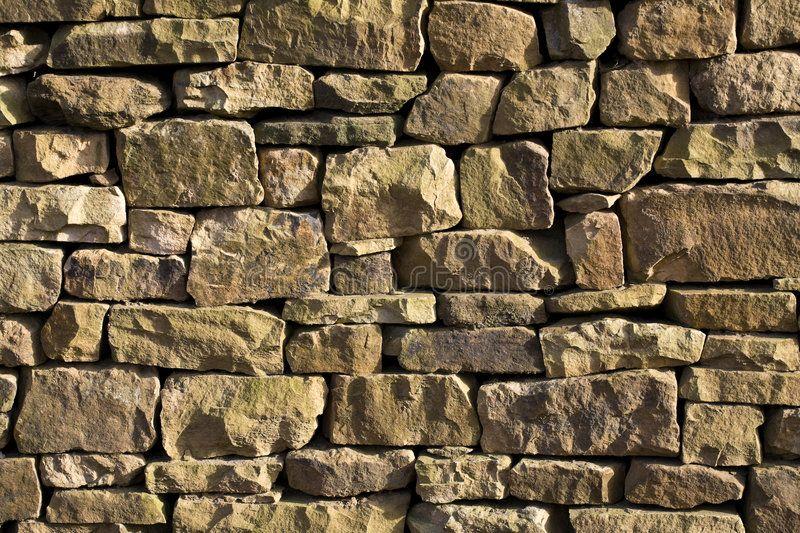Stone Wall Closeup Of Use