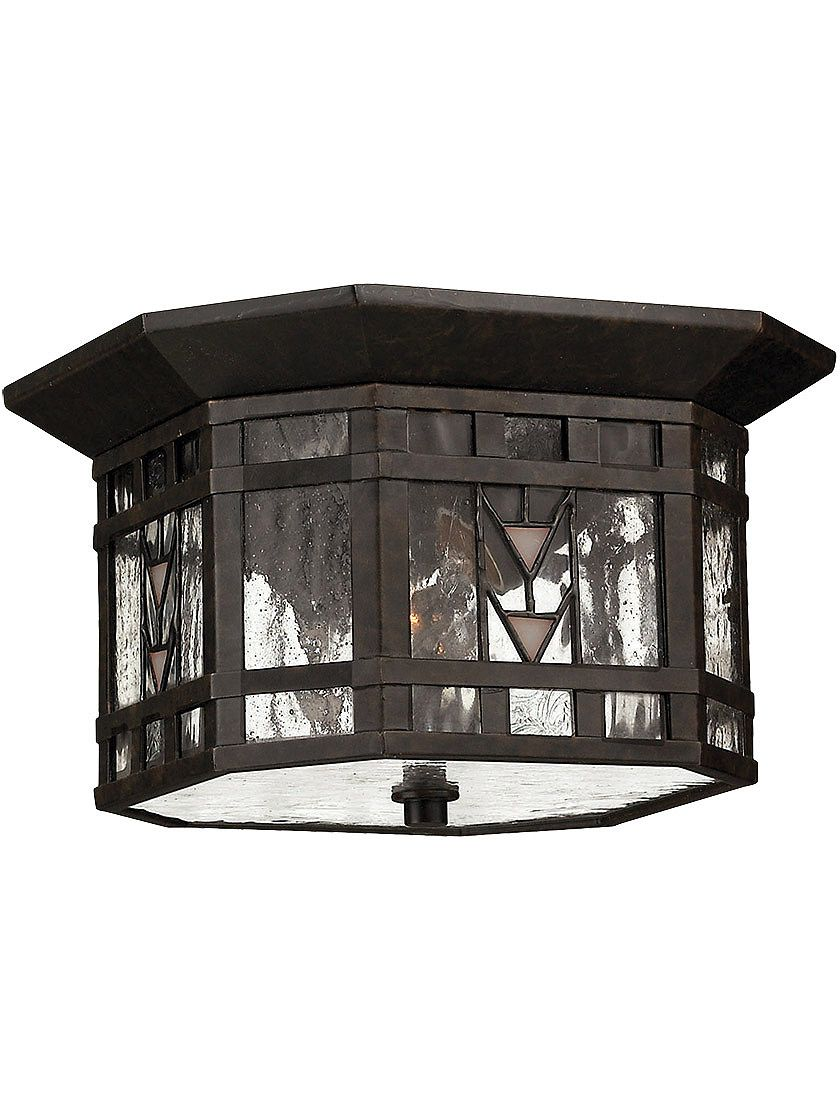 Porch light fixtures tahoe flush ceiling porch light in regency bronze
