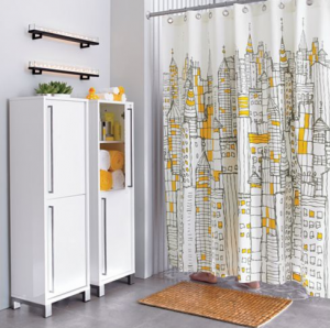 Cb2 Cityscape Shower Curtain Old Discontinued Yellow Shower Curtains Cool Shower Curtains Bathroom Decor