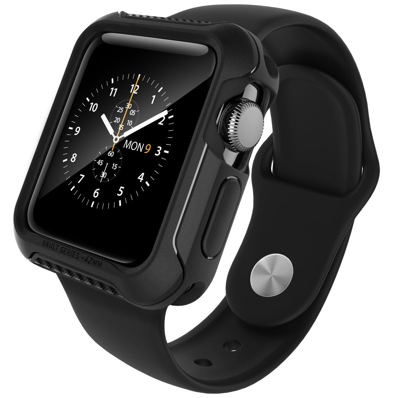 Apple Watch Series 2 42mm Case Caseology Vault Series Flexible Slim Rugged Protective Tpu Case Matte Black Fle Best Apple Watch