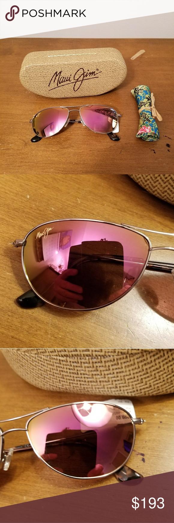 bc095a1e4a Maui Jim Baby Beach Polarized Sunglasses Frame  Rose Gold Lens  Maui  Sunrise Color Code  3560R4 Maui Jim Accessories Sunglasses
