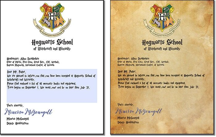 picture relating to Hogwarts Envelope Printable named Free of charge Printable: Customizable Hogwarts Letter and Envelope