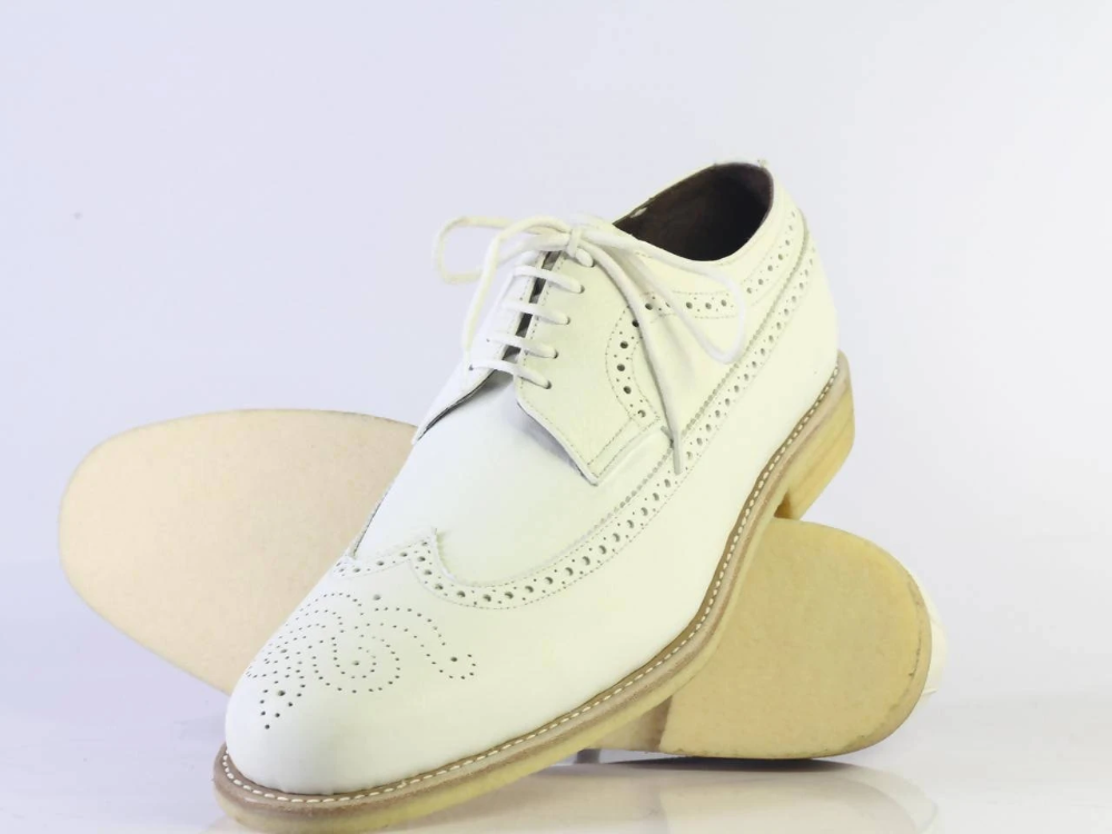 #men #handmade #leathershoes #whiteshoe #wingtips #handmadeshoes #bespoke #wingtipbrogueshoes #designershoesforless #fashionshoes #oxfords #shoesaddict — everythingeshop