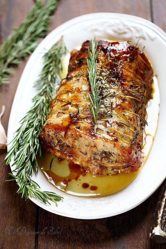 R ti de porc comme en toscane la cuisine italienne en 2019 porc r ti recettes de cuisine y - Cuisiner un roti de veau ...