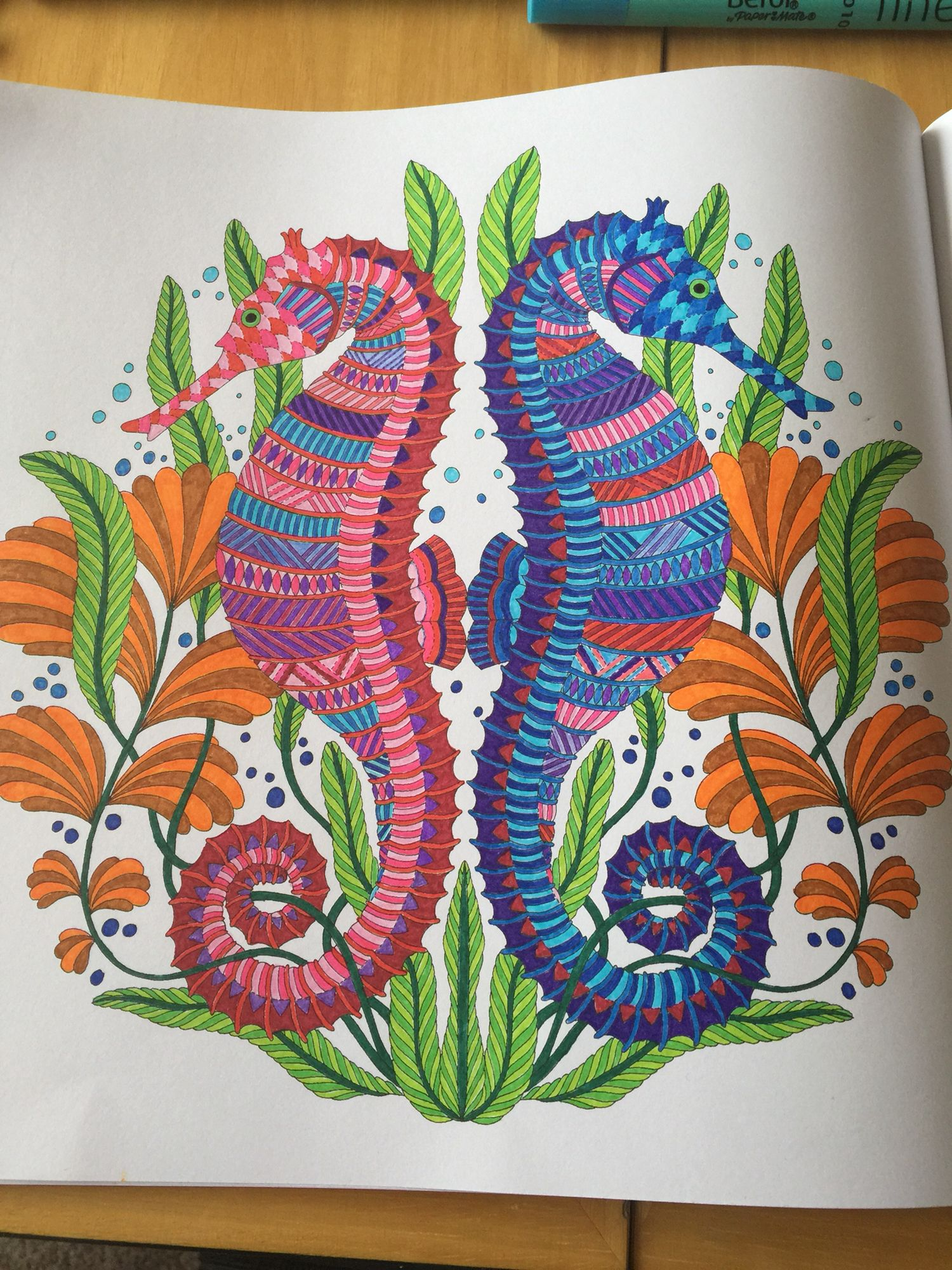 Millie Marotta Sea Horse Tropical Wonderland