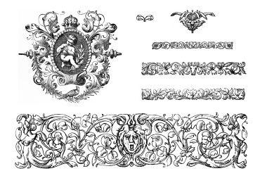 Victorian Design victorian design elements royalty free stock vector art