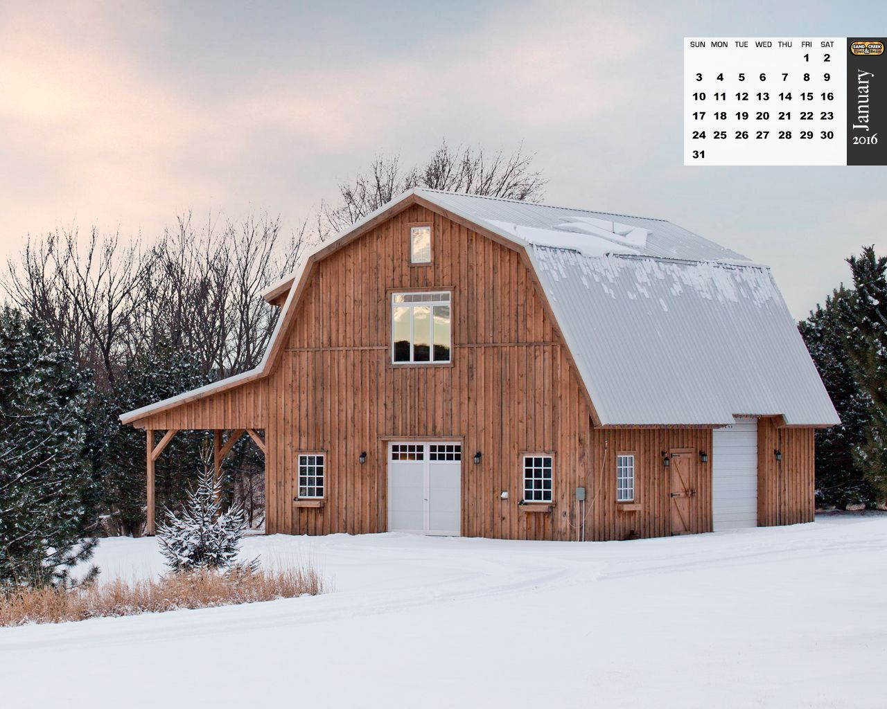 Traditional wood barn projects photo galleries ponderosa county horse gambrel combination - Gambrel pole barns style ...