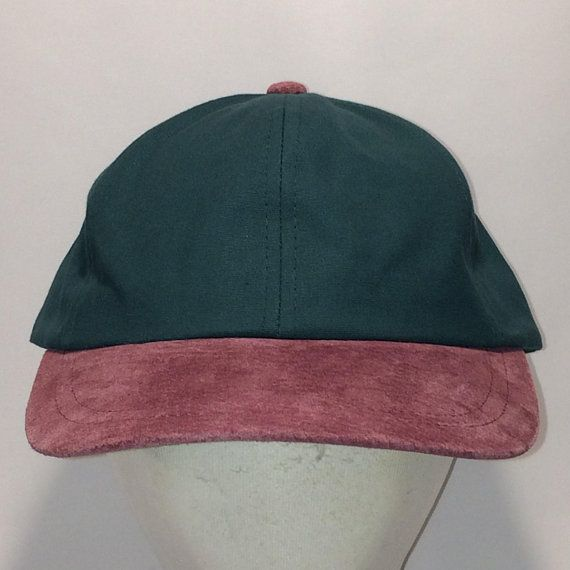 7e06dd1b Vintage Plain Leather Strapback Hat Hunter Green Maroon Sued Bill Baseball Cap  Hat Blank Hats For Men Lightweight Fishing Hat T113 MA8161