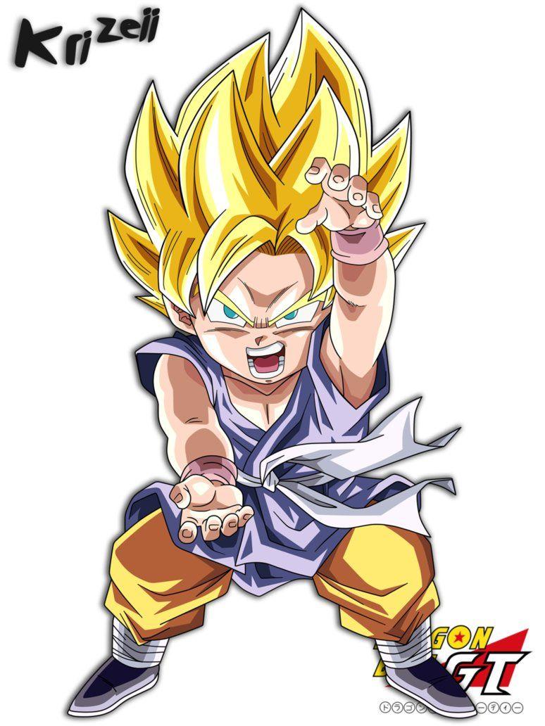 Son Goku Gt Kid Form Super Saiyajin By Krizeii Inner Nerd