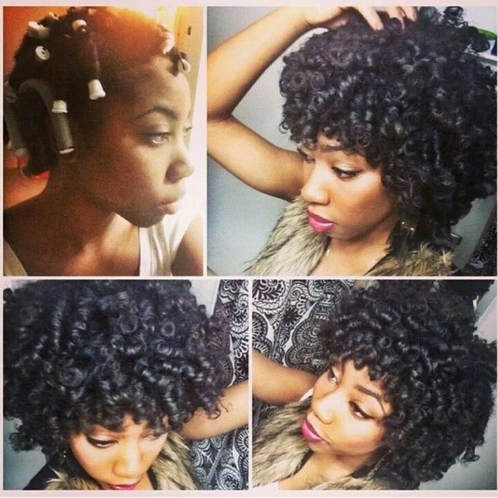 Perm Rods Using Cantu Shea Butter And Ecostyler Gel Naturally