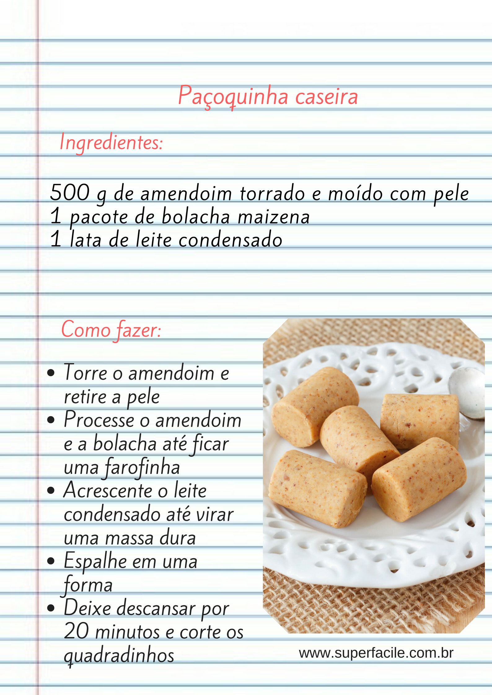Paçoquinha Caseira #PaçoquinhaCaseira #Paçoquinha #DocesCaseiros #DocinhosFaceis #DocesFaceis #DocesPraticos #ReceitasFaceis #ReceitasPraticas #forkyeah #dailycortado#yahoofood #huffposttaste #buzzfeast #instafeast #bareaders #foodandwine #onthetable #vscofood #vscocook #foodstyling #beautifulcuisines #heresmyfood #theartofslowliving #rslove #realsimple #foodporn #cntravelereats #drinkwine