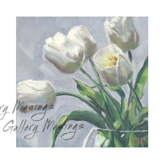 White flowers original oil painting whitetulips by gallerymusings white flowers original oil painting whitetulips by gallerymusings mightylinksfo
