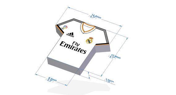 Real Madrid Caja Imprimible Estilo Camiseta De Futbol Cajas De Regalo Originales Decoraciones De Cumpleanos Para Hombres Regalos Para Hombres Cumpleanos