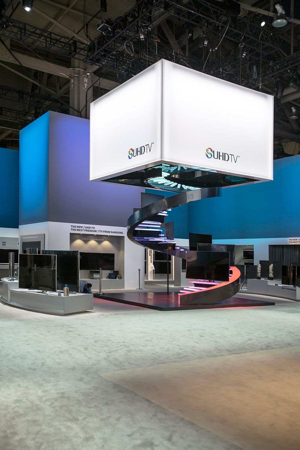 Exhibition Stand Design App : Interior of samsung s sf quot booth at ces views