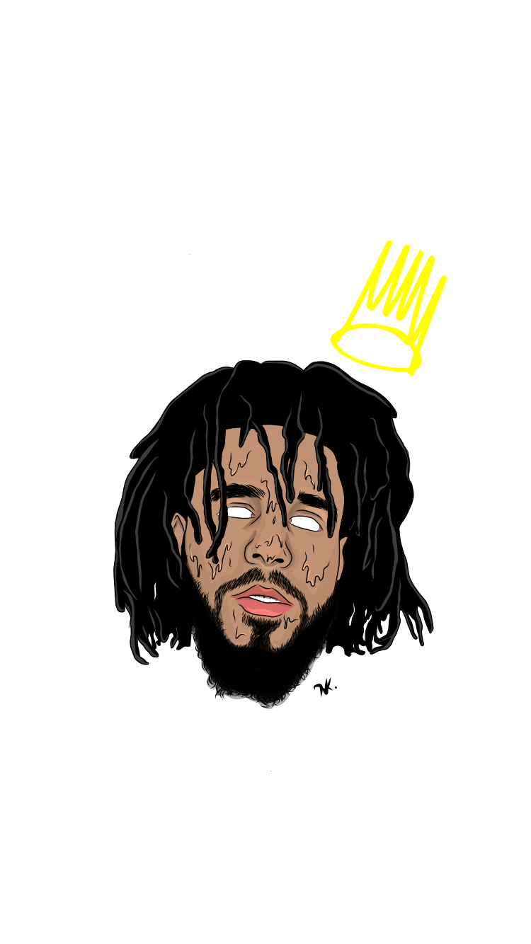 J Cole Crown In 2020 J Cole Art J Cole Drawing J Cole Tattoos