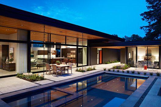 Galería de Casa muro de cristal / Klopf Architecture - 11 | Diseñar ...