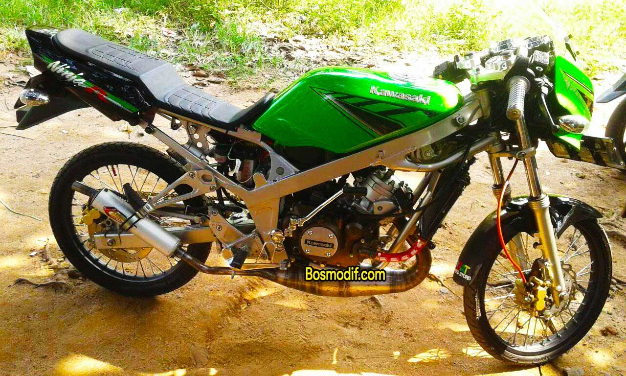 Modifikasi Motor Kawasaki Ninja R Rr Warna Hijau Hitam Modifikasi