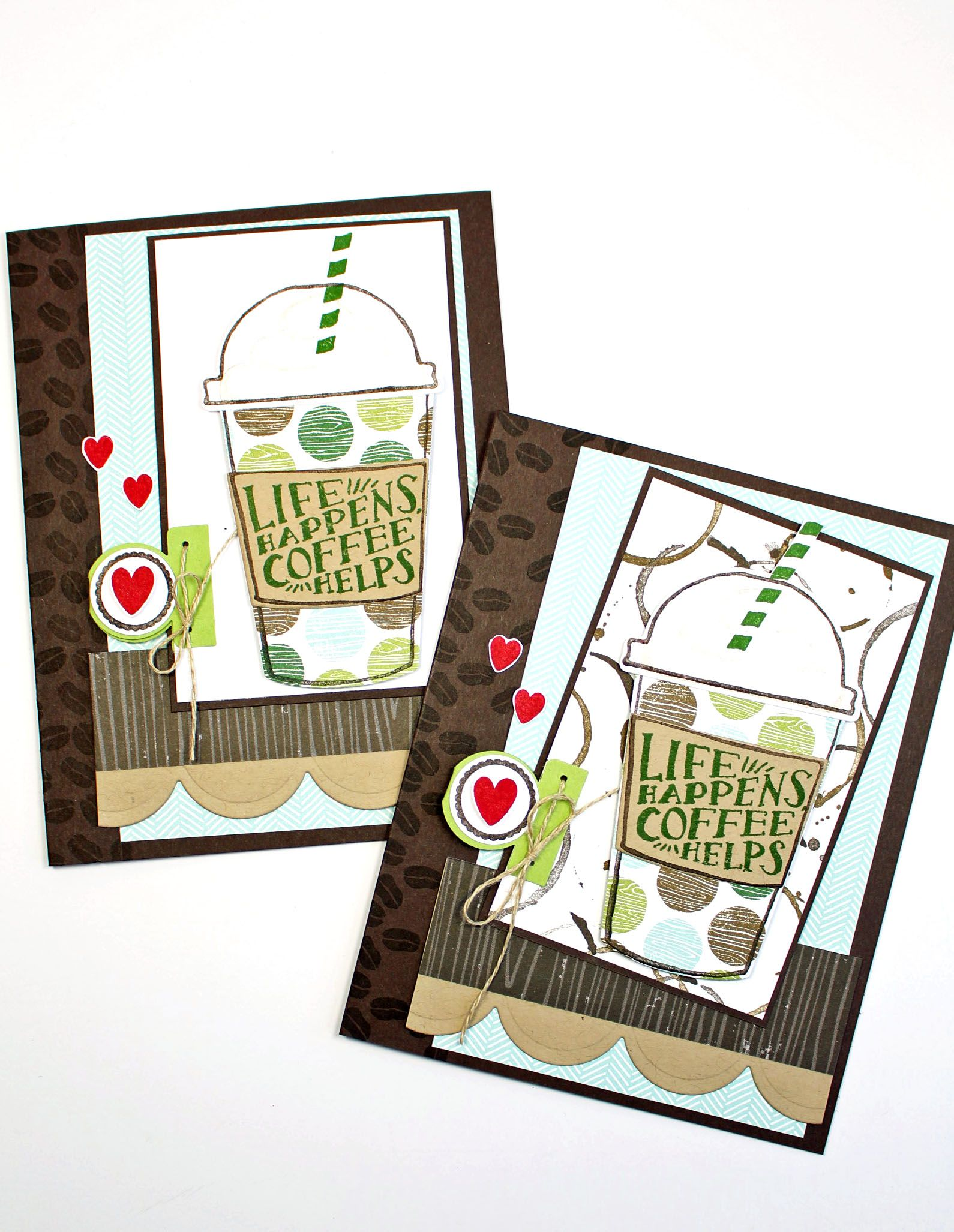 paper & ink sketch #5 and stampin' up! coffee cafe card making