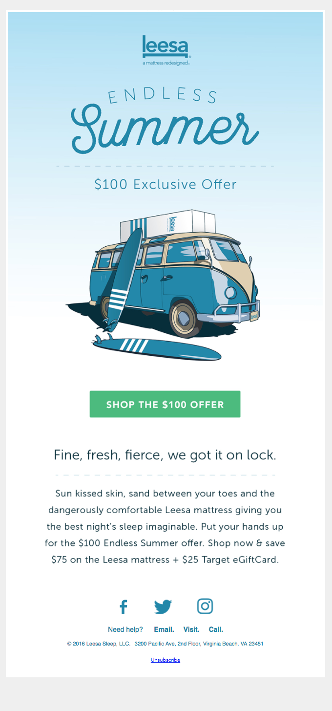 $100 Endless Summer Offer — Catch the Perfect Mattress