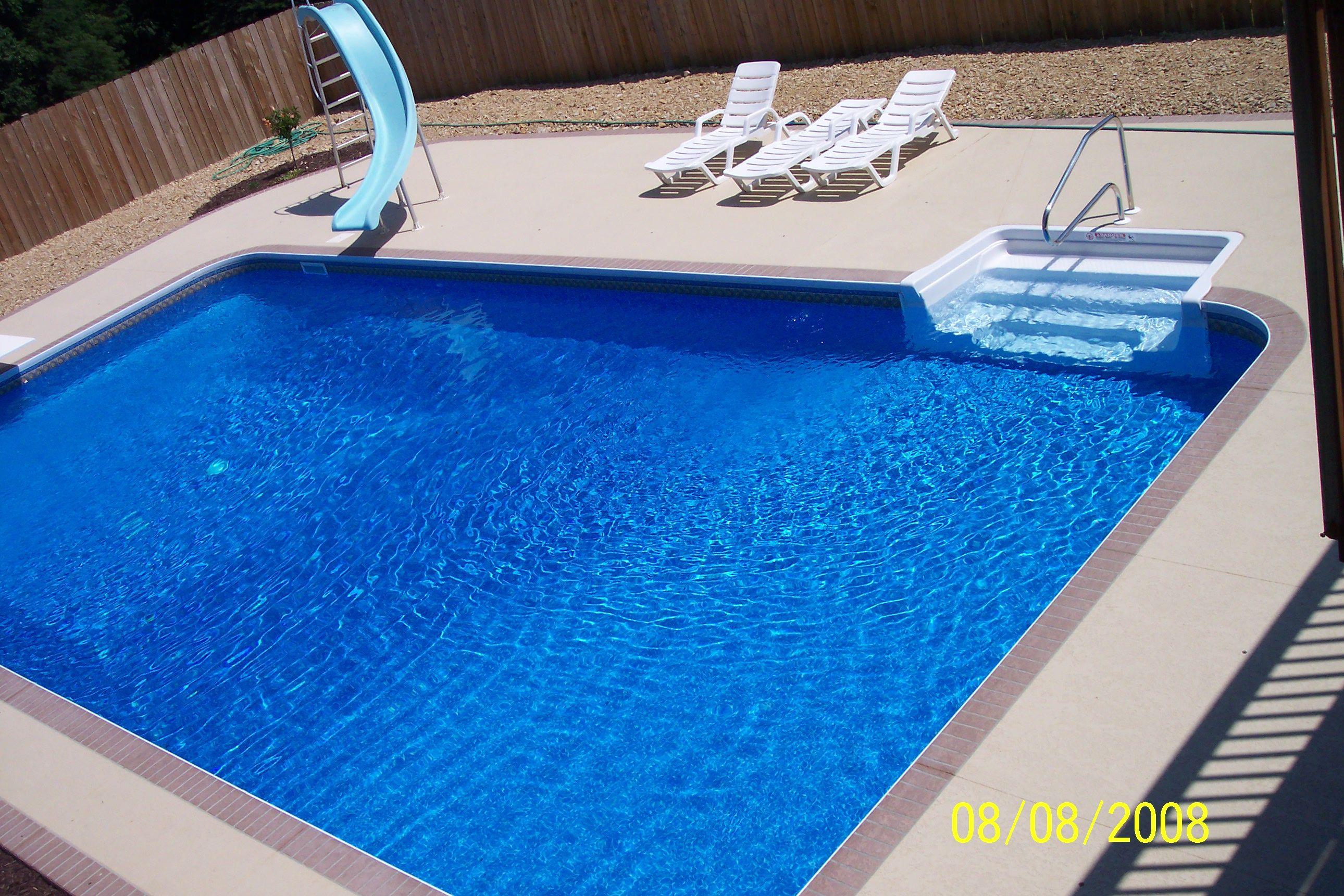 16 X32 Rectangle Inground Swimming Pool In Missouri Swimming Pools Inground Inground Pool Designs Rectangle Pool