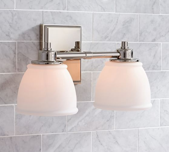 Hayden traditional double sconce pottery barn oliver bathroom sconces lighting for bathrooms aloadofball Gallery