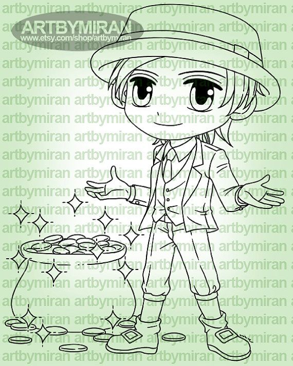 Digital Stamp Lucky Patrick ABM 009 Digi Stamp by artbymiran