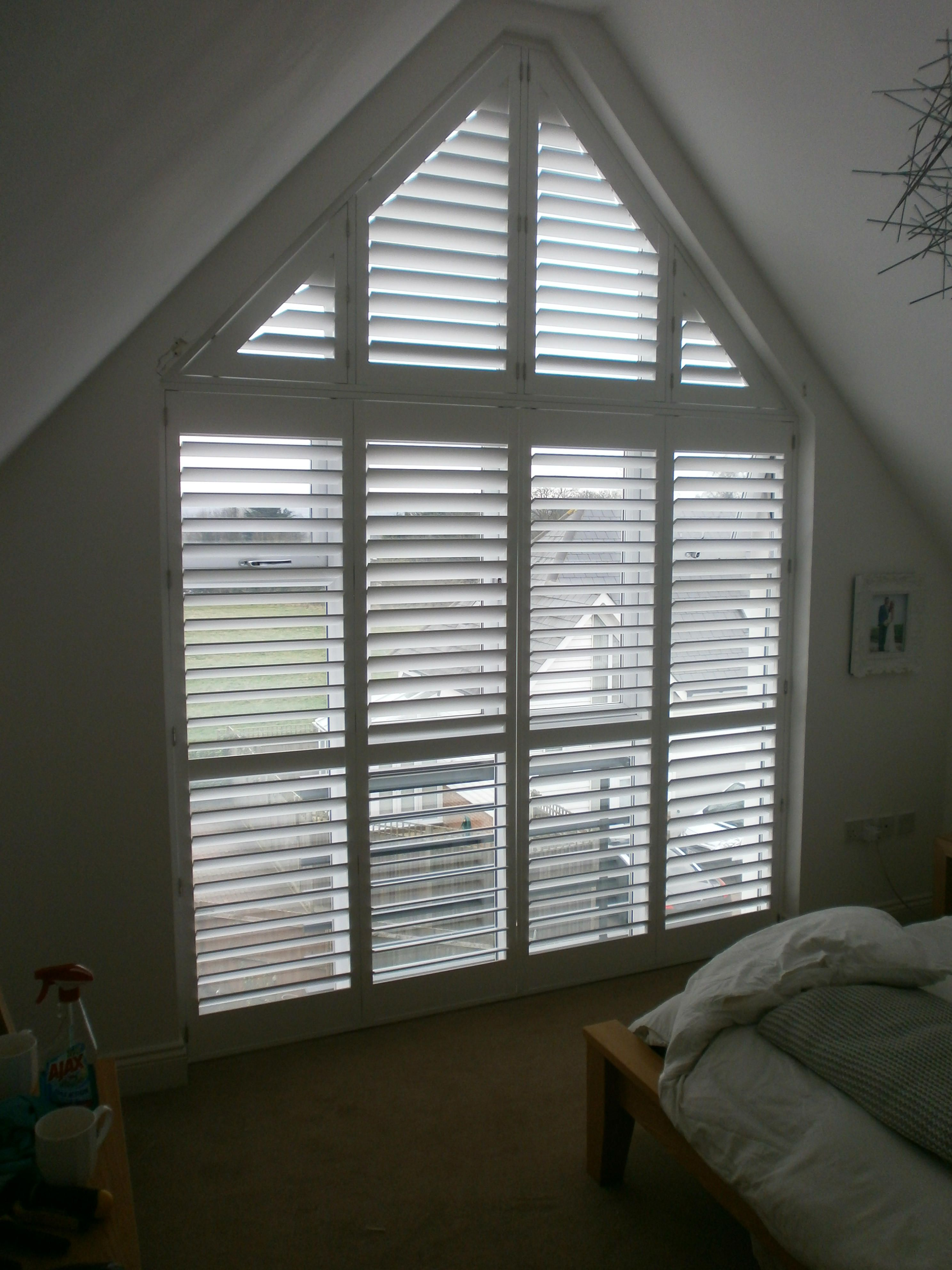 A Tall Gable End Window With Phoenix Wood Shutters Project Inspiration Coburg Pinterest