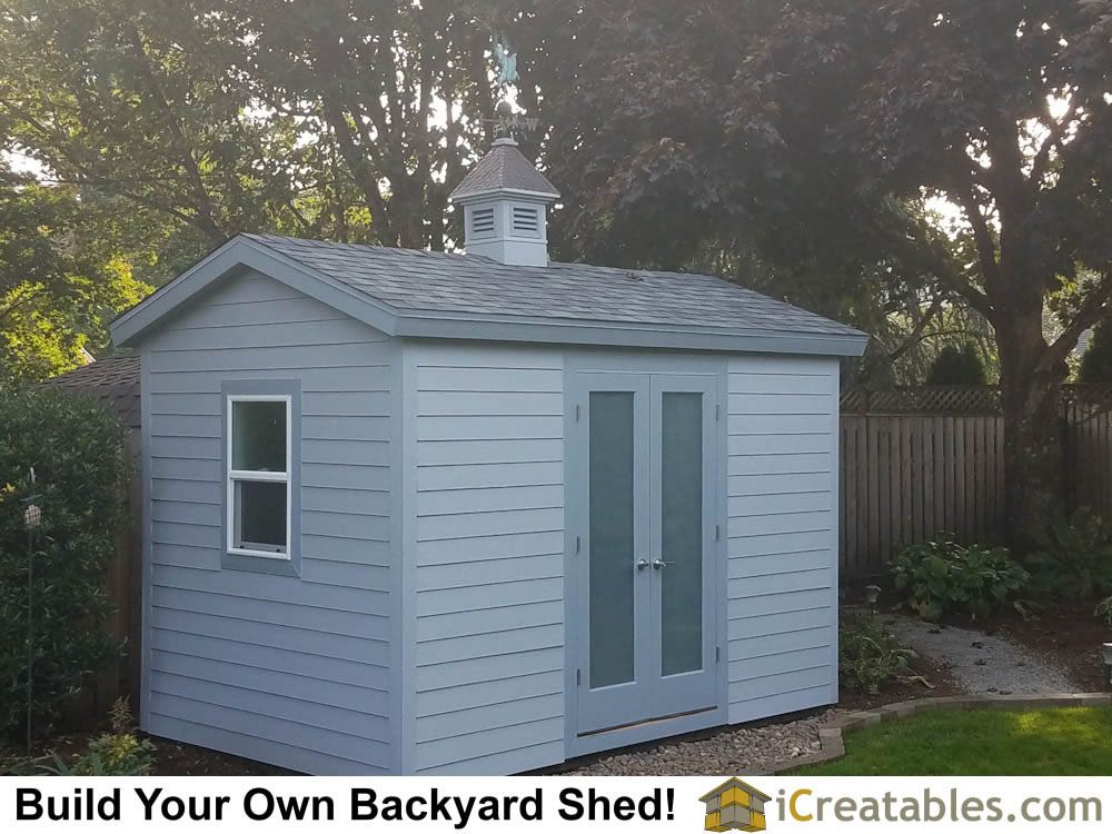 8x12 Backyard Shed With Extras Like A Window And Cupola And Lap Siding Shed Design Shed Building A Shed