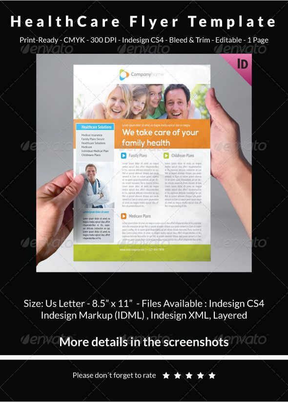 HealthCare Flyer Template — InDesign INDD #corporate flyer ...