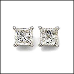 Diamond Princess Cut Studs Huge Selection At Austin Americus