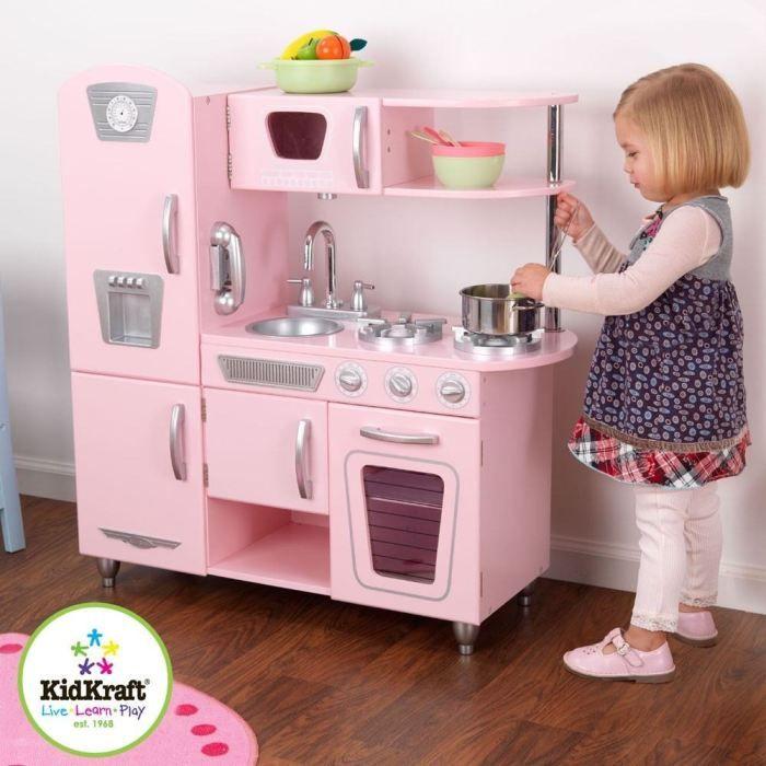 cuisine vintage en bois rose achat vente dinette cuisine cdiscount chambre d 39 enfant. Black Bedroom Furniture Sets. Home Design Ideas