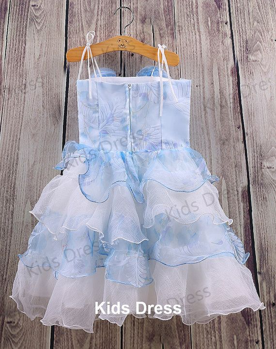 A-line Straps Satin Organza Flower Girl Dress With Flowers