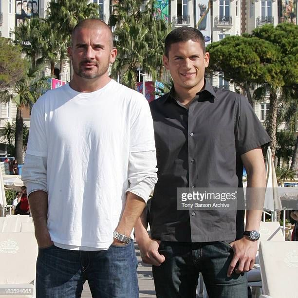 Dominic Purcell And Wentworth Miller During Mipcom 2006