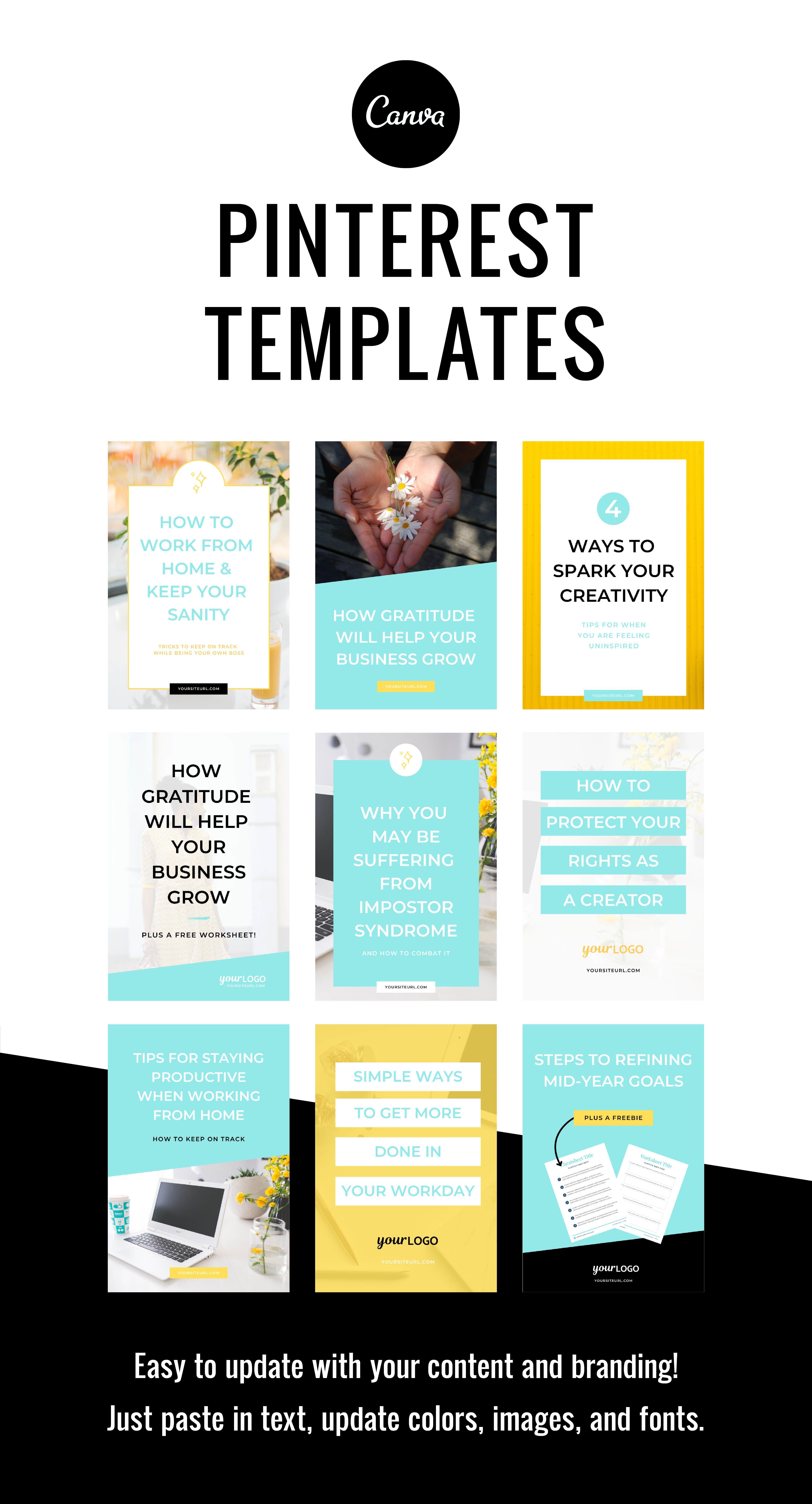 Pinterest / Blog Post Templates / Canva (738099