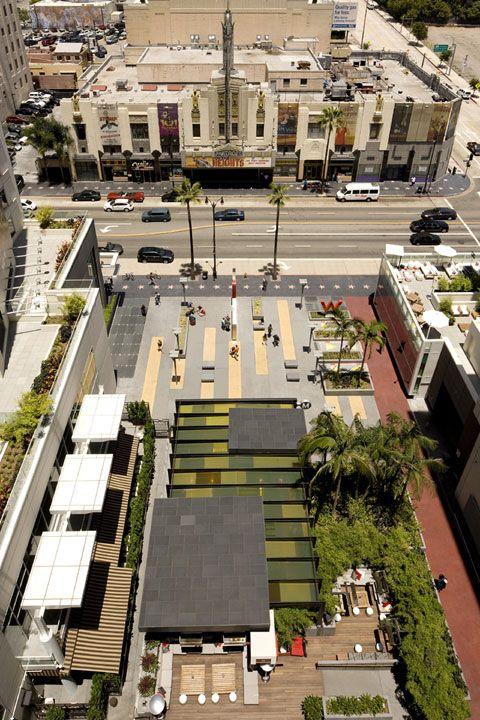 Hollywood Vine Metro Plaza Unifies Urban Streetscape Los Angeles