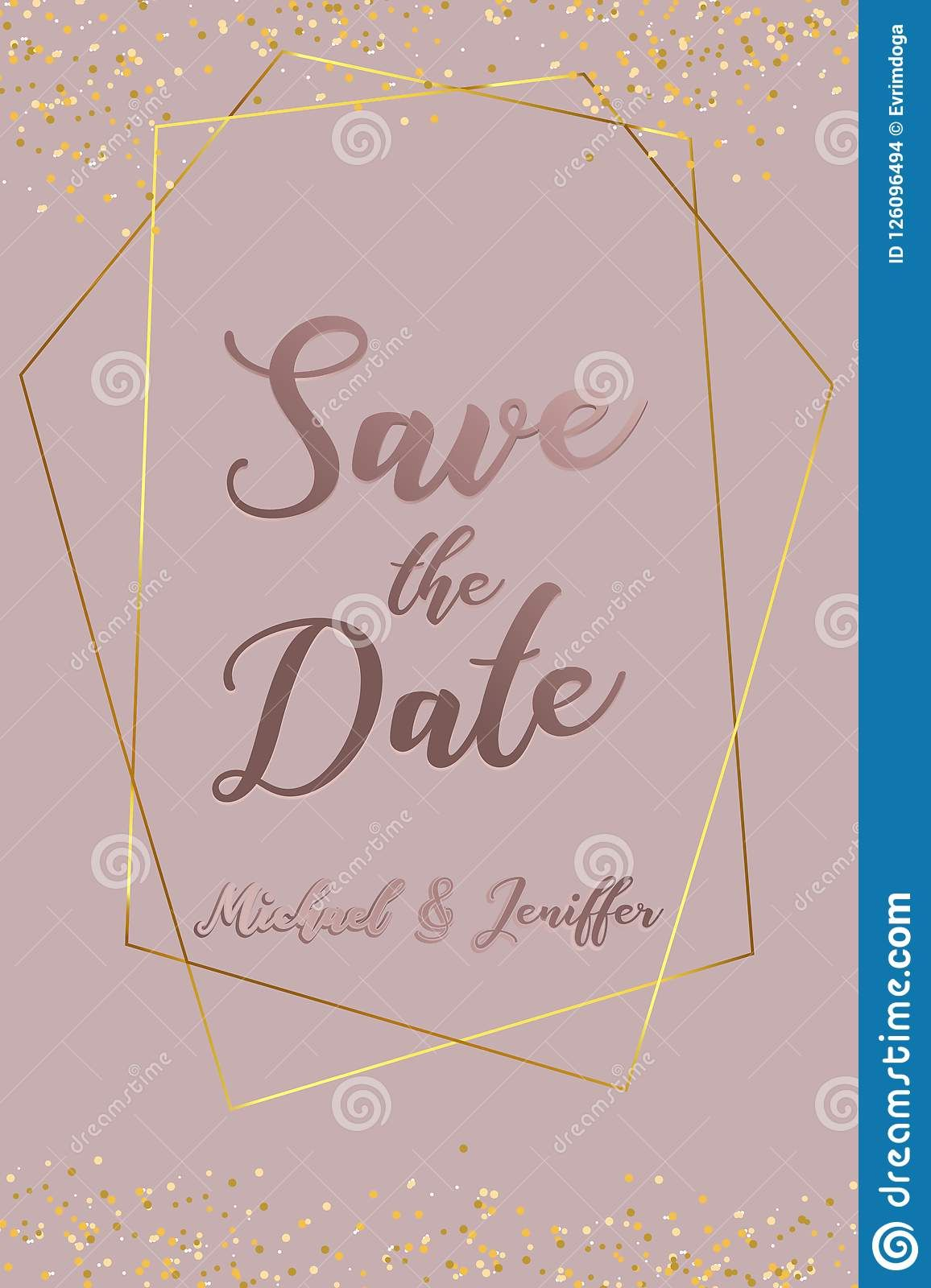 Wedding Invitation Thank You Card Save The Date Card In Save The Date Banner Template Thank You Card Template Banner Template Free Business Card Templates