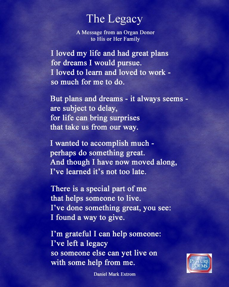 The Legacy A Downloadable Photo Poem Donation quotes