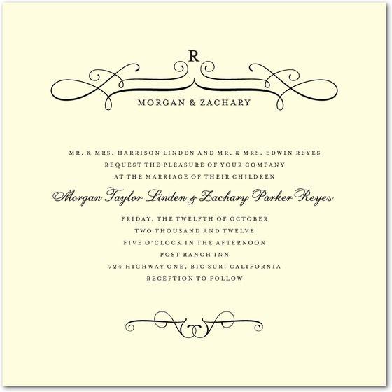 fine swirls formal wedding invitations 471 weddinginvitations weddings - Formal Wedding Invitation