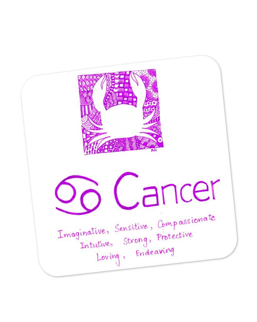 Coasters | Cancer| Zodiac Sign Gifts Coaster 1103354529 Online India | PosterGuy.in