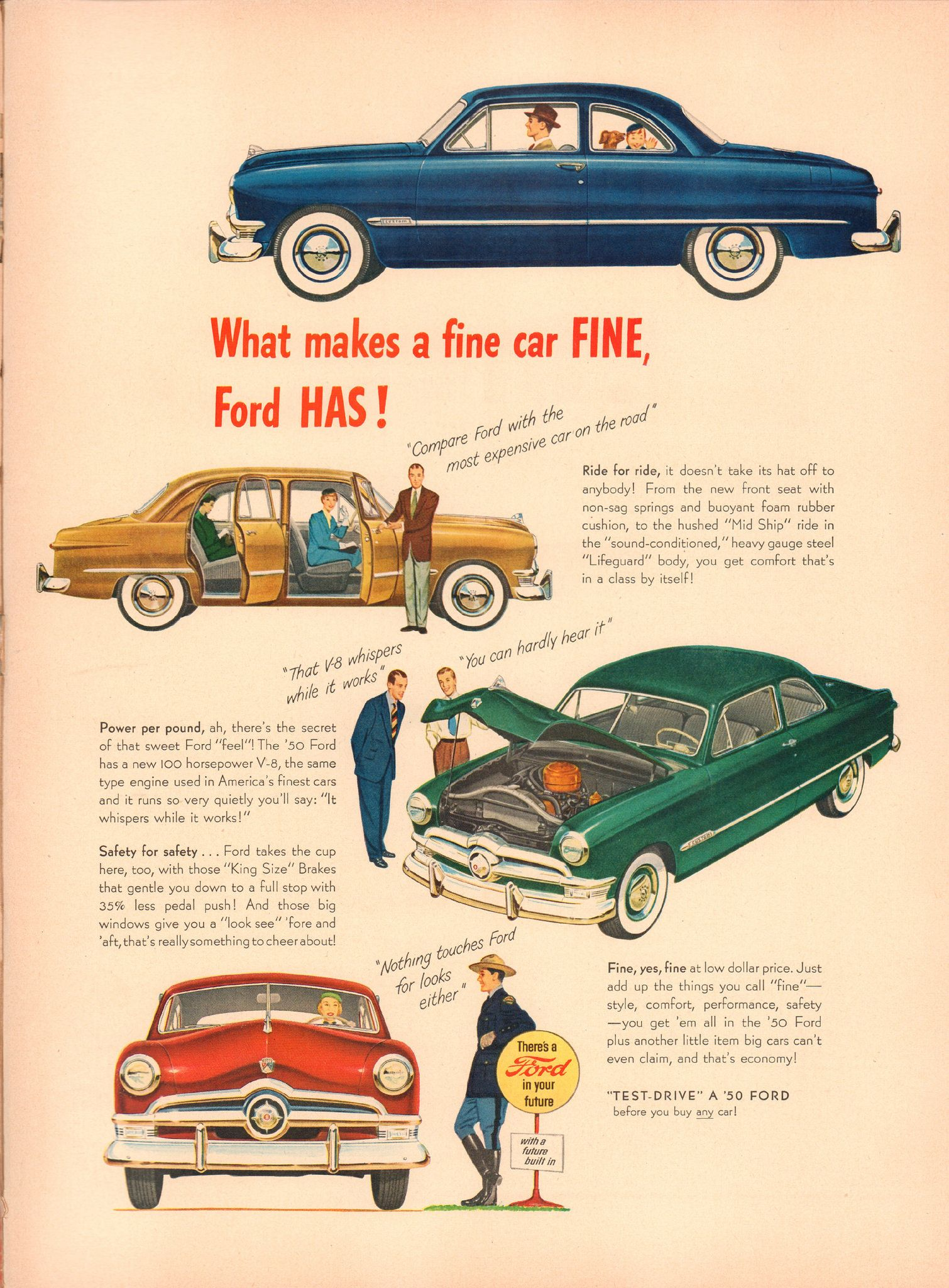 1950 Ford Advertisement Life Magazine March 27 1950 Ford Classic Cars Automobile Advertising Ford