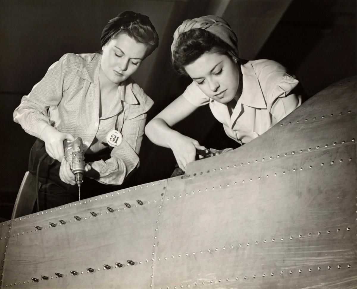 While women worked in American factories since the