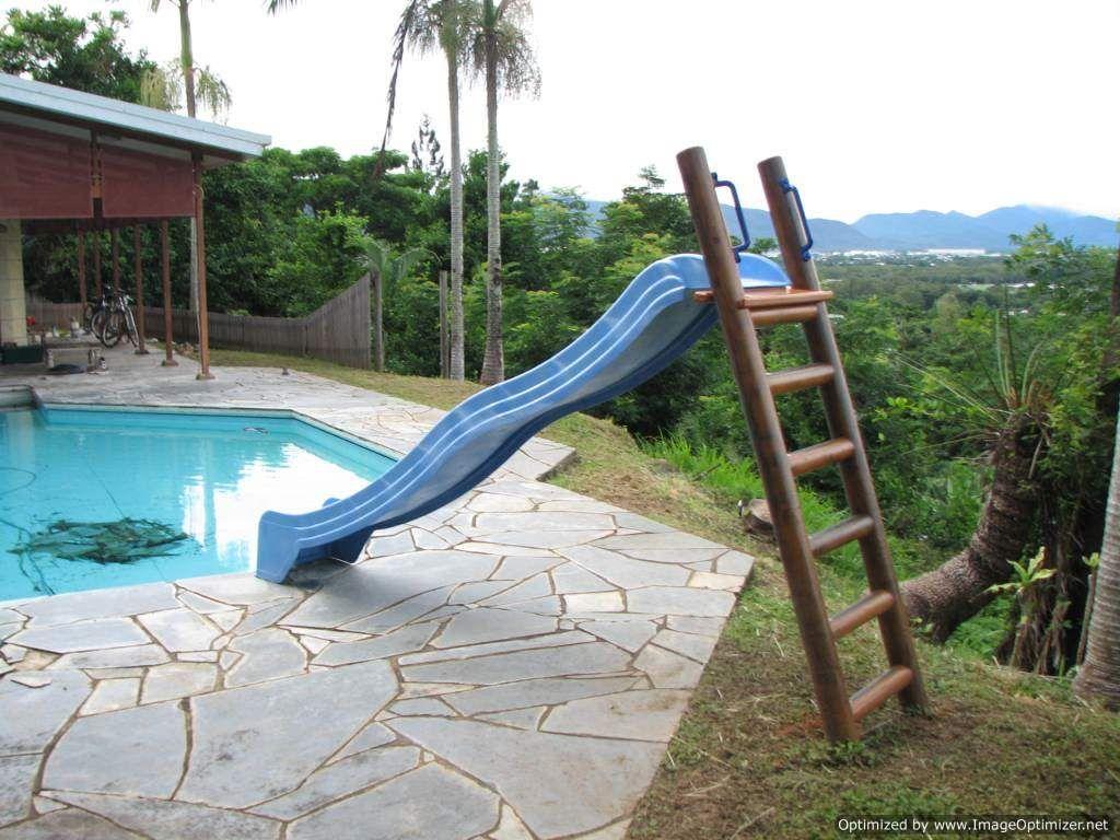 1.5m Platform with 3.1m Pool Slide Blue Diy pool, Diy