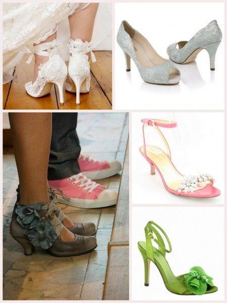 d8ef5f1da7c chaussure mariage originales escarpins vert dentelle corail neosens fleurs  Carnet d inspiration Mademoiselle Cereza mariage
