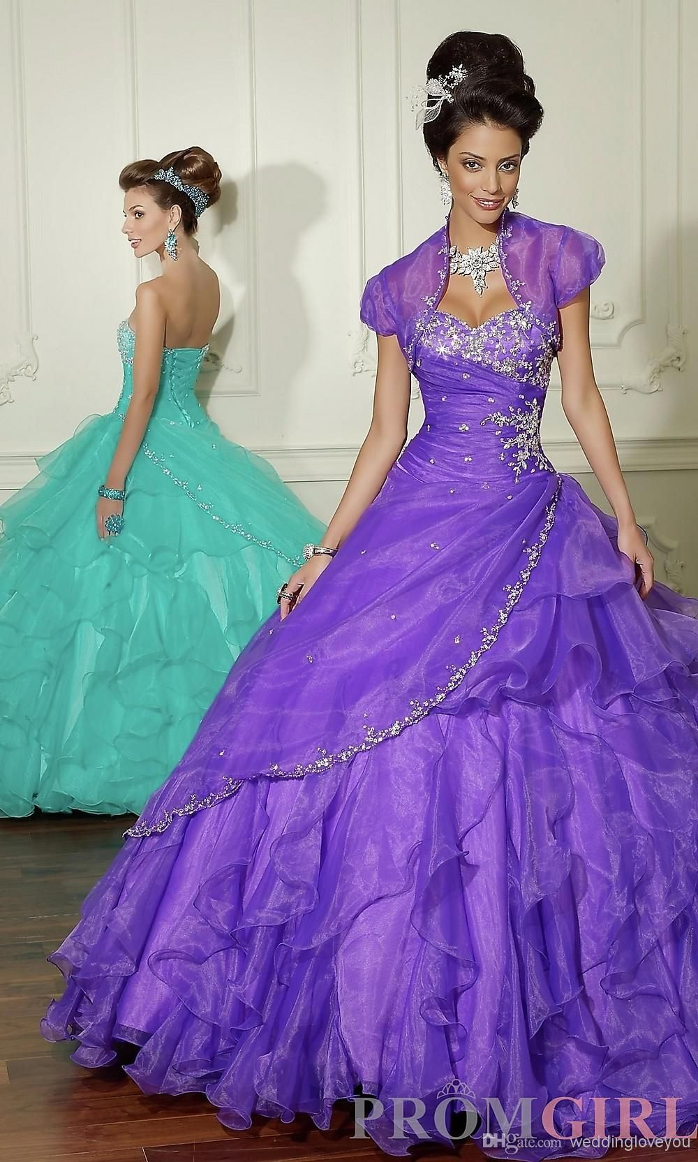 New type beaded organza quinceanera dress with bead quinceanera