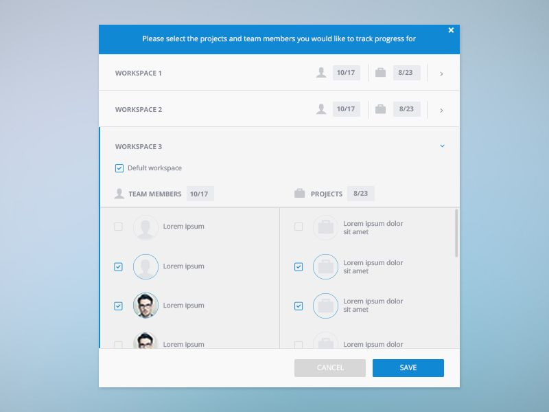 Popup Form 유저 인터페이스 디자인